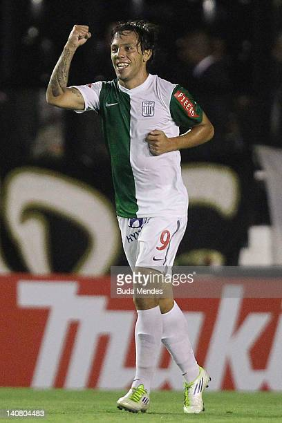 Sebastian Charquero of Alianza Lima celebrates a scored goal againist Vasco during a match between Vasco da Gama and Alianza Lima as part of...