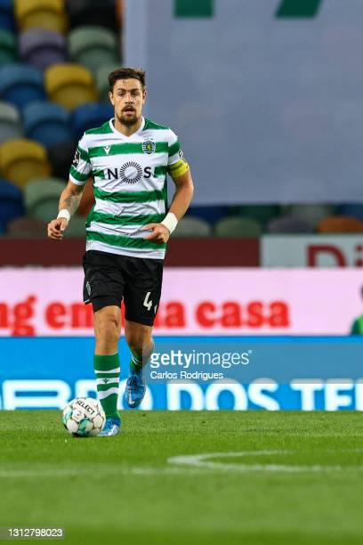 Sebastian Coates of Sporting CP during the Liga NOS match between Sporting CP and FC Famalicao at Estadio Jose Alvalade on April 11, 2021 in Lisbon,...