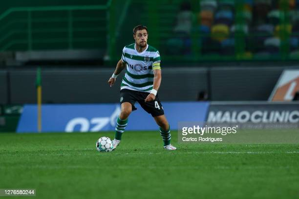Sebastian Coates of Sporting CP during the UEFA Europa League third qualifying round match between Sporting CP and Aberdeen at Estadio Jose Alvalade...