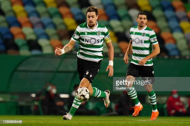 Sebastian Coates of Sporting CP in action during the Liga NOS match between Sporting CP and SC Braga at Estadio Jose Alvalade on January 2, 2021 in...