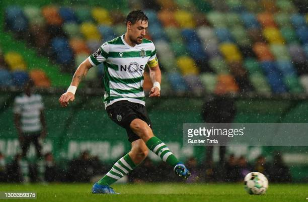 Sebastian Coates of Sporting CP in action during the Liga NOS match between Sporting CP and Portimonense SC at Estadio Jose Alvalade on February 20,...