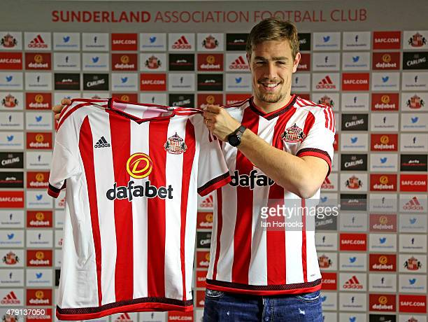 Sebastian Coates pictured at The Academy of Light after being unveiled as a Sunderland player on July 01, 2015 in Sunderland, England.