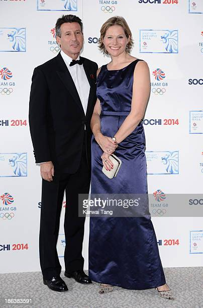 Sebastian Coe and Carole Annett attend the British Olympic Ball at The Dorchester on October 30 2013 in London England