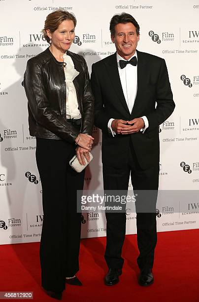 Sebastian Coe and Carole Annett attends the IWC Gala dinner in honour of the BFI at Battersea Evolution on October 7 2014 in London England