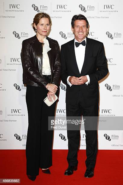 Sebastian Coe and Carole Annett attends the IWC gala dinner in honour of the BFI during the BFI London Film Festival at Battersea Evolution on...