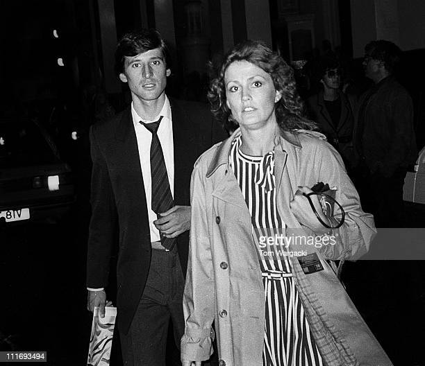 Sebastian Coe and girlfriend Jane Bevan during Sebastian Coe Sighting at the Musical '42nd Street' at Theatre Royal Drury Lane in London Great Britain