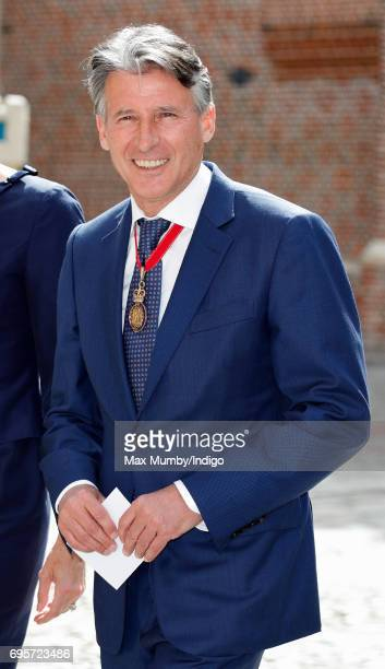 Sebastian Coe arrives to attend Evensong at the Chapel Royal Hampton Court Palace to celebrate the Centenary of the founding of the Companions of...