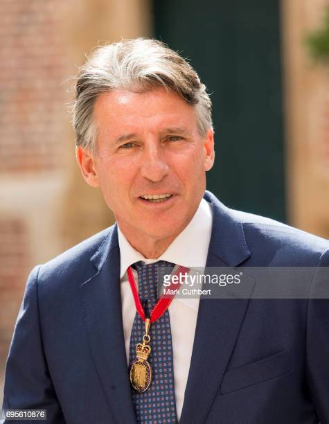 Sebastian Coe attends Evensong in celebration of the centenary of the Order of the Companions of Honour at Hampton Court Palace on June 13 2017 in...