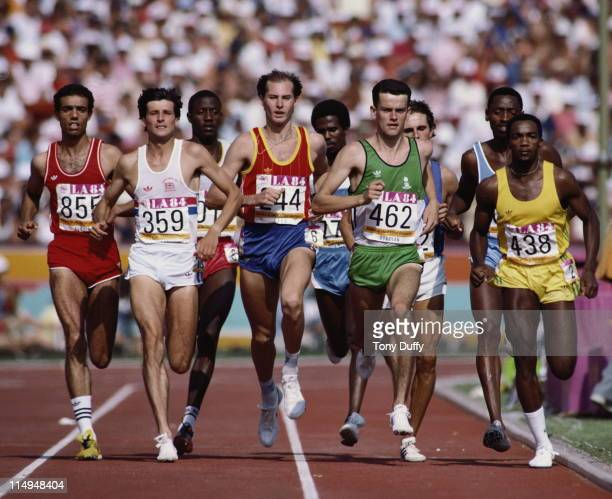 Sebastian Coe of Great Britain during the heats of the Men's 1500 metres event at the XXIII Summer Olympics on 9th August 1984 at the Los Angeles...