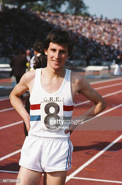 Sebastian Coe poses for a picture at an event at Crystal Palace in August 1977 in London England