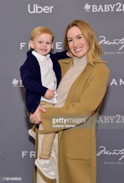 Sebastian Coit and Katherine Power attend The Baby2Baby Holiday Party Presented By FRAME And Uber at Montage Beverly Hills on December 15, 2019 in...
