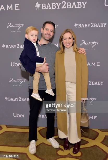 Sebastian Coit, Justin Coit and Katherine Power attend The Baby2Baby Holiday Party Presented By FRAME And Uber at Montage Beverly Hills on December...