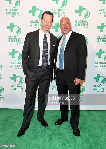 Sebastian Copeland and President and CEO Global Green USA Dr Les McCabe attend the Global Green USA 19th Annual Millennium Awards on June 6 2015 in...