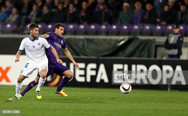 Sebastian Cristoforo of ACF Fiorentina in action during the UEFA Europa League match between ACF Fiorentina and FC Slovan Liberec at Artemio Franchi...