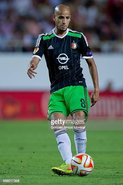 Sebastian Cristoforo of Feyenoord controls the ball during the UEFA Europa League group G match between Sevilla FC and Feyenoord at Ramon Sanchez...