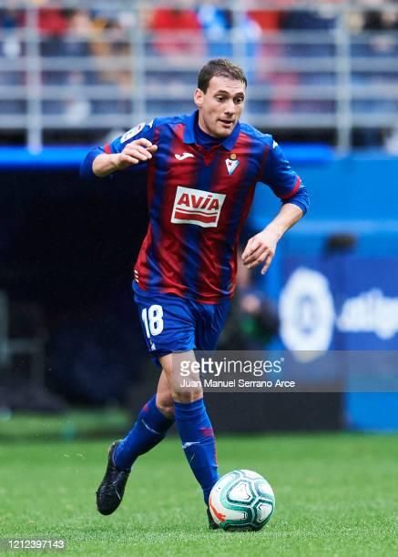 Sebastian Cristoforo of SD Eibar in action during the Liga match between SD Eibar SAD and RCD Mallorca at Ipurua Municipal Stadium on March 07 2020...