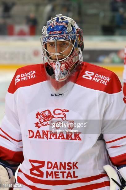 Sebastian Dahm of Denmark during the Austria v Denmark - Ice Hockey International Friendly at Erste Bank Arena on May 5, 2019 in Vienna, Austria.
