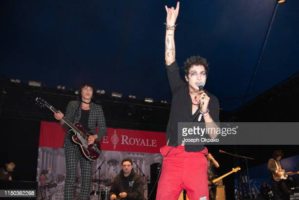 Sebastian Danzig and Remington Leith from Palaye Royale performs on stage during day 3 of Download festival 2019 at Donington Park on June 16 2019 in...