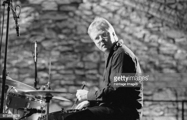 Sebastian de Krom, Brecon Jazz Festival, Powys, Wales, August 2003. Artist Brian O'Connor.