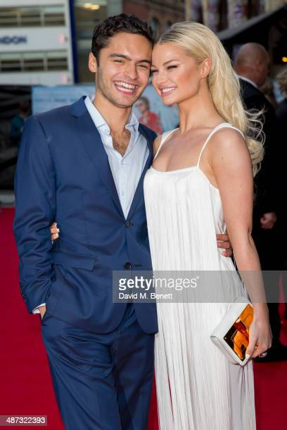 Sebastian de Souza and Emma Rigby attend the UK Premiere of Plastic>> at the Odeon West End on April 29 2014 in London England