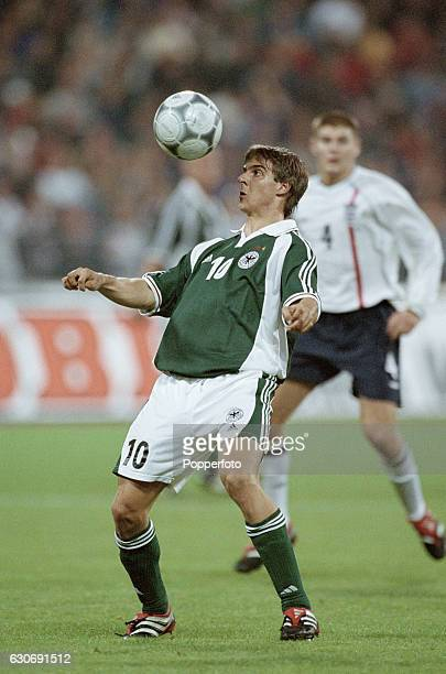 Sebastian Deisler of Germny in action during the FIFA World Cup Qualifying match between Germany and England in Munich on 1st September 2001 England...