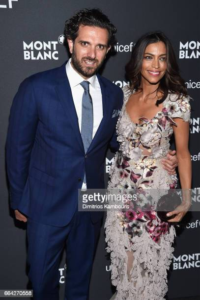 Sebastian Diamantoulis and Touriya Haoud attend the Montblanc UNICEF Gala Dinner at the New York Public Library on April 3 2017 in New York City