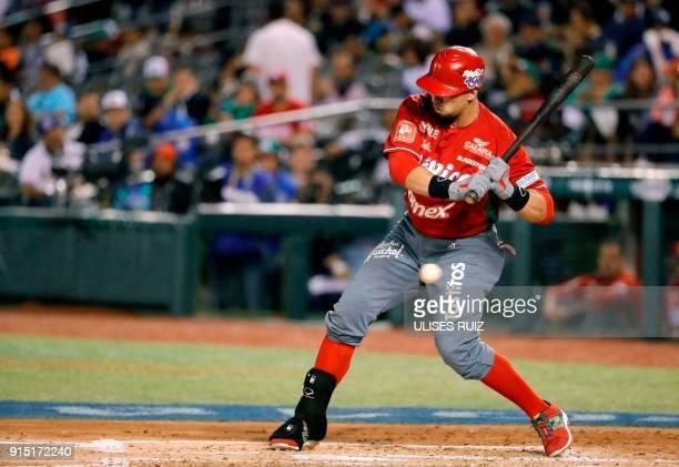 Sebastian Elizalde of Tomateros de Culiacan of Mexico tray bats against Aguilas Cibaenas of Republica Dominicana during the Caribbean Baseball Series...