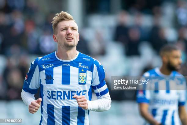 Sebastian Eriksson of IFK Goteborg looks on during the Allsvenskan match between IFK Goteborg and Ostersunds FK at Gamla Ullevi on November 02, 2019...