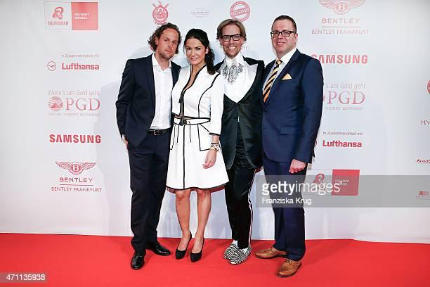 Sebastian Esser Mariella Ahrens Jens Hilbert and his friend Ulrich Schuhmacher attend the Fashion Charity Event 2015 in favor of the 'RTL Wir helfen...