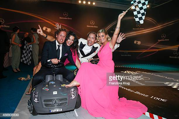 Sebastian Esser Mariella Ahrens Jens Hilbert and Jennifer Knaeble attend the Tribute To Bambi 2014 party on September 25 2014 in Berlin Germany