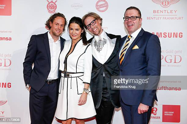 Sebastian Esser Mariella Ahrens Jens Hilbert and Ulrich Schuhmacher attend the Fashion Charity Event 2015 in favor of the 'RTL Wir helfen Kindern'...