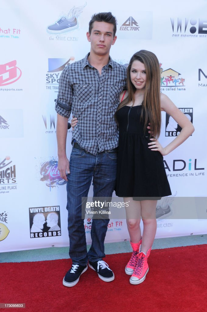 Sebastian Famulari and Saige Ryan Campbell attend Shoe Crews Summer Concert on July 6, 2013 in Simi Valley, California.