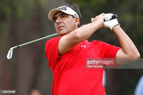 Sebastian Fernandez from Argentina in action during the Lexus Peru Open of the Latin PGA at Los Inkas Golf Club on November 04, 2012 in Lima, Peru.