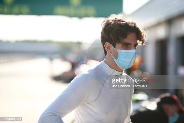 Sebastian Fernandez of Spain and ART Grand Prix before race two of the Formula 3 Championship at Silverstone on August 02, 2020 in Northampton,...