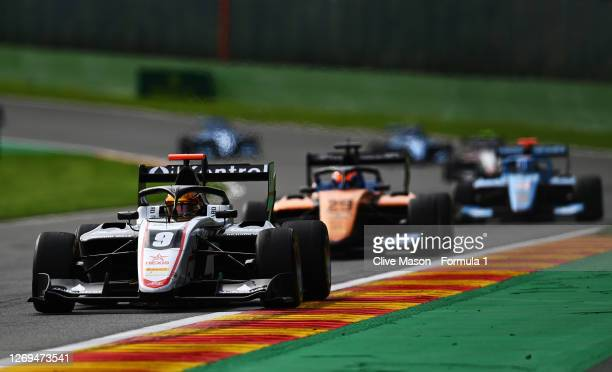 Sebastian Fernandez of Spain and ART Grand Prix drives drives during the first race of the Formula 3 Championship at Circuit de Spa-Francorchamps on...