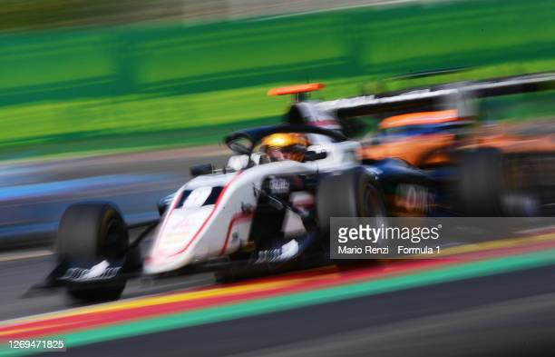 Sebastian Fernandez of Spain and ART Grand Prix drives during the first race of the Formula 3 Championship at Circuit de Spa-Francorchamps on August...