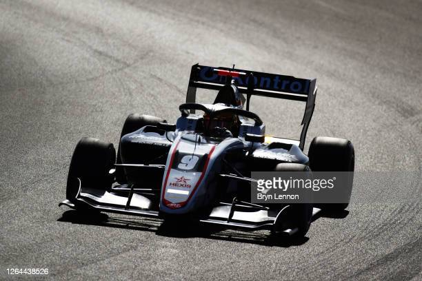 Sebastian Fernandez of Spain and ART Grand Prix drives on track during practice for the Formula 3 Championship at Silverstone on August 07, 2020 in...