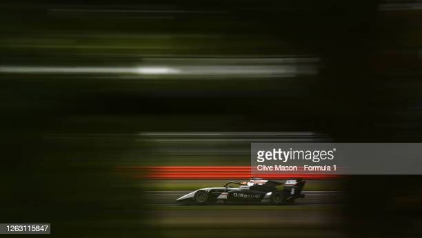 Sebastian Fernandez of Spain and ART Grand Prix drives on track during race one of the Formula 3 Championship at Silverstone on August 01, 2020 in...