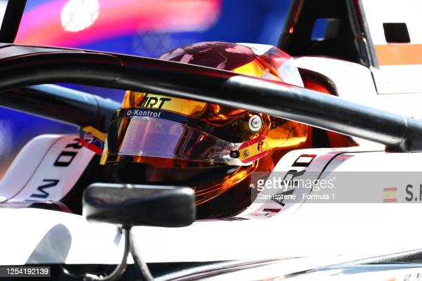 Sebastian Fernandez of Spain and ART Grand Prix prepares to drive on the grid for the feature race for the Formula 3 Championship at Red Bull Ring on...