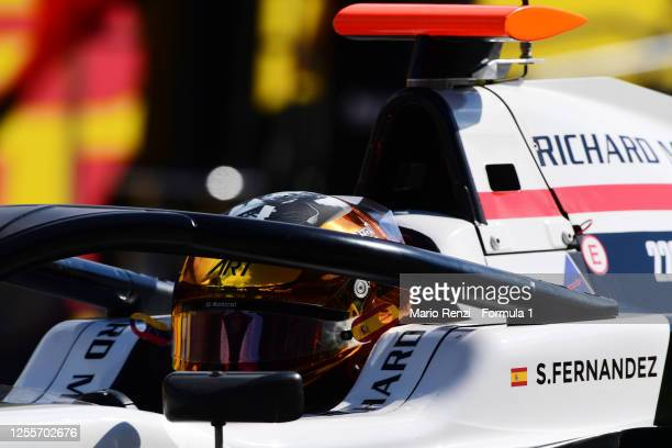Sebastian Fernandez of Spain and ART Grand Prix prepares to drive on the grid during the sprint race for the Formula 3 Championship at Red Bull Ring...