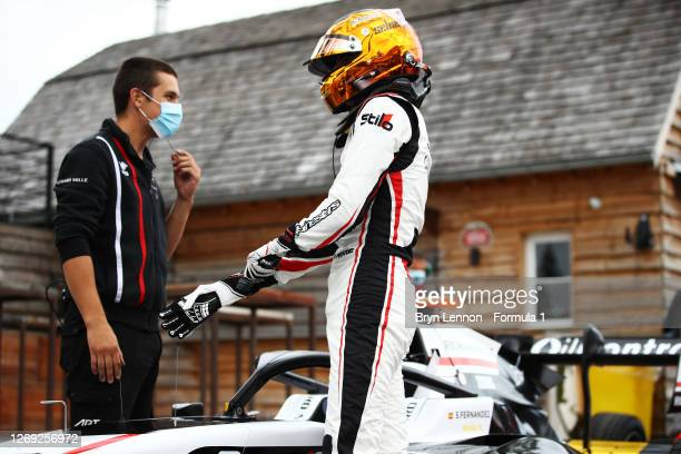 Sebastian Fernandez of Spain and ART Grand Prix prepares to drive during practice for the Formula 3 Championship at Circuit de Spa-Francorchamps on...