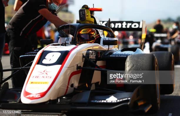 Sebastian Fernandez of Spain and ART Grand Prix prepares to drive before the Formula 3 Championship Second Race at Mugello Circuit on September 13,...