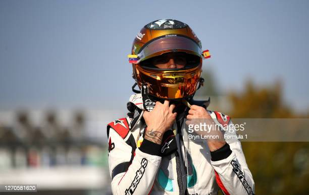 Sebastian Fernandez of Spain and ART Grand Prix walks in the Paddock after practice for the Formula 3 Championship at Autodromo di Monza on September...