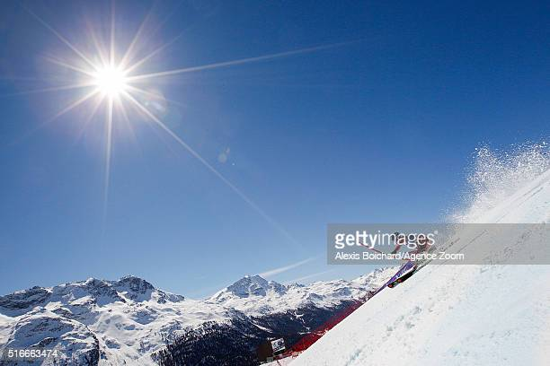 Sebastian Foss Solevaag of Norway takes 3rd place competes during the Audi FIS Alpine Ski World Cup Finals Men's Slalom and Women's Giant Slalom on...