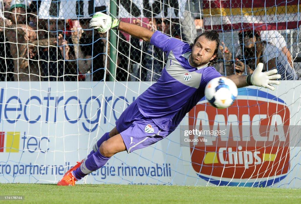 Sebastian Frey of Bursaspor Kulubu in action during the pre-season friendly match between AS Roma and Bursaspor Kulubu on July 21, 2013 in Bruneck, Italy.