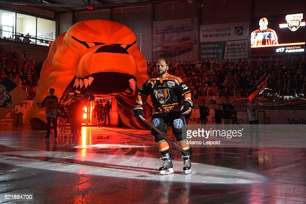 Sebastian Furchner of the Grizzlys Wolfsburg during the game between the Grizzlys Wolfsburg and dem EHC Red Bull Muenchen on April 17 2016 in...