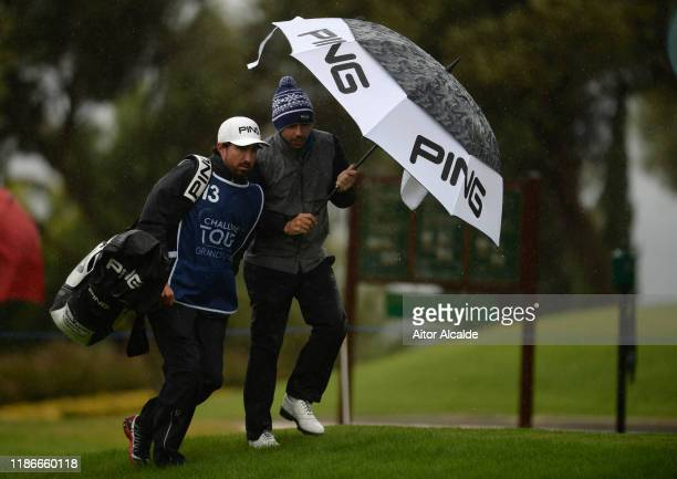 Sebastian Garcia Rodriguez of Spain walks off the 1st tee during day 4 of the Challenge Tour Grand Final at Club de Golf Alcanada on November 10 2019...