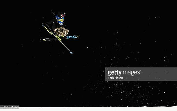 Sebastian Geiger of Germany competes during the Ski Big Air Final of the ARAG Big Air Freestyle Festival on December 2 2016 in Moenchengladbach...
