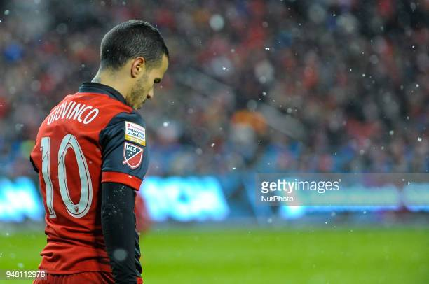 Sebastian Giovinco after the 2018 CONCACAF Champions League Final match between Toronto FC and CD Chivas Guadalajara at BMO Field in Toronto Canada...