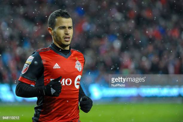 Sebastian Giovinco during the 2018 CONCACAF Champions League Final match between Toronto FC and CD Chivas Guadalajara at BMO Field in Toronto Canada...
